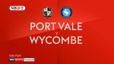 Port Vale 2-3 Wycombe
