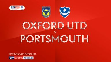 Oxford Utd 3-0 Portsmouth