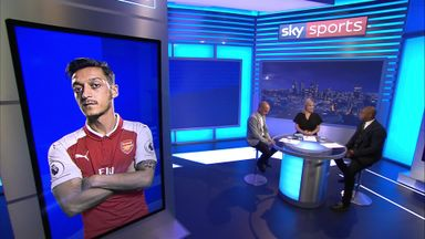 Wright defends under-fire Ozil
