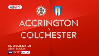 Accrington 3-1 Colchester