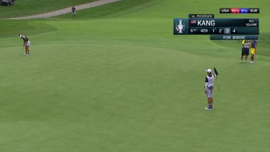 Kang drains monster putt