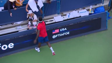 Tiafoe v Zverev: Highlights