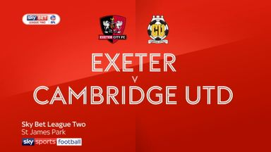 Exeter 1-0 Cambridge