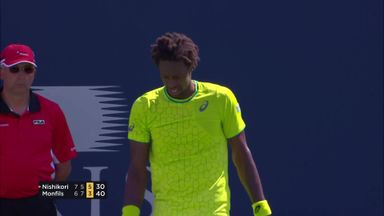 Monfils magic against Nishikori