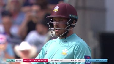 T20 Blast: Finch thrashes 114no