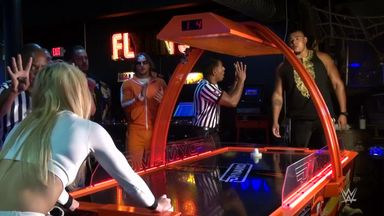 NXT Superstars go wild for air hockey