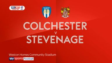 Colchester 1-1 Stevenage