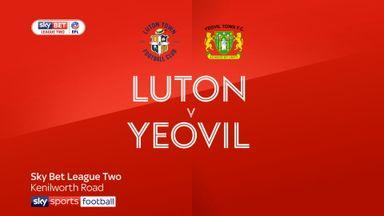 Luton 8-2 Yeovil