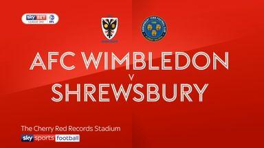 AFC Wimbledon 0-1 Shrewsbury