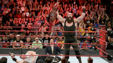 Braun Strowman attacks Brock Lesnar