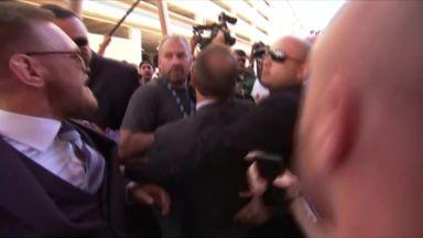 McGregor-Mayweather entourages clash