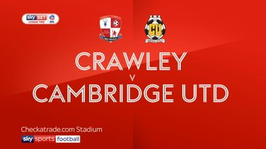 Crawley 0-1 Cambridge