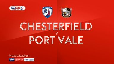 Chesterfield 2-0 Port Vale