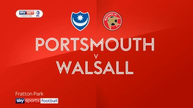 Portsmouth 1-1 Walsall