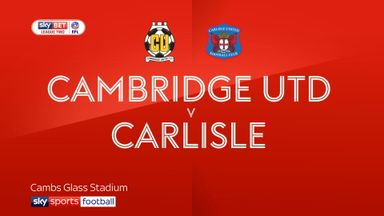 Cambridge Utd 1-2 Carlisle
