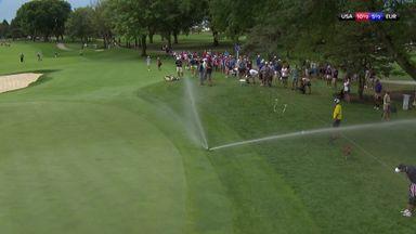 Sprinkler stops play!