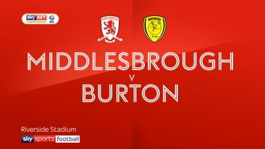 Middlesbrough 2-0 Burton