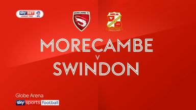 Morecambe 0-1 Swindon