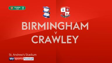 Birmingham 5-1 Crawley