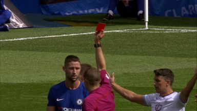 Cahill's controversial red