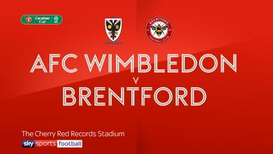 AFC Wimbledon 1-3 Brentford (AET)