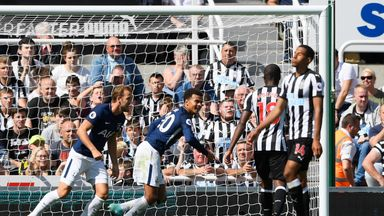 Newcastle 0-2 Tottenham: Dele Alli, Ben Davies on target as Jonjo Shelvey sees red