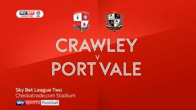 Crawley 1-3 Port Vale
