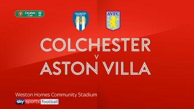 Colchester 1-2 Aston Villa