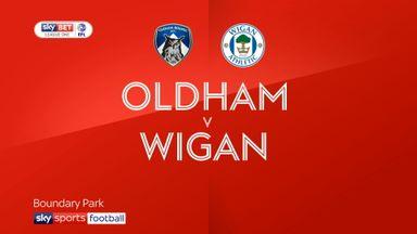 Oldham 0-2 Wigan