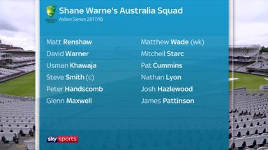 Ashes Panel: Australia squad