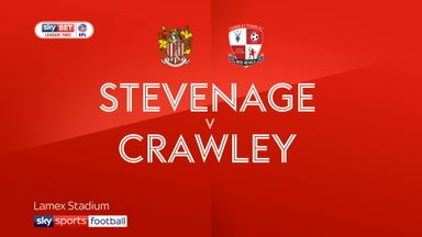 Stevenage 1-1 Crawley