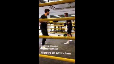 Herrera shows off boxing skills