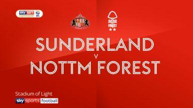 Sunderland 0-1 Nottingham Forest