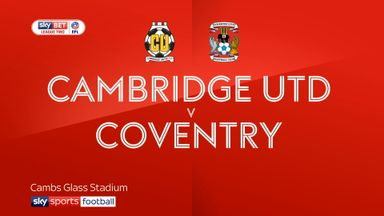 Cambridge 2-1 Coventry