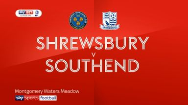 Shrewsbury 1-0 Southend