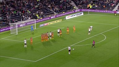 Vydra's free kick screamer