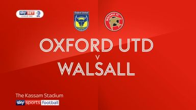 Oxford United 1-2 Walsall