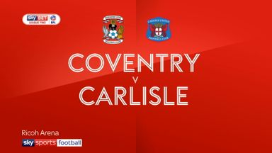 Coventry 2-0 Carlisle
