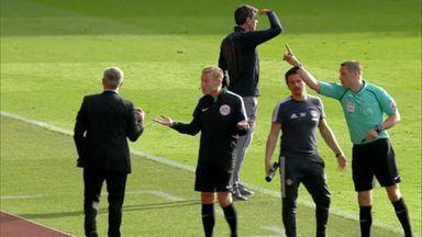 Mourinho sent off!