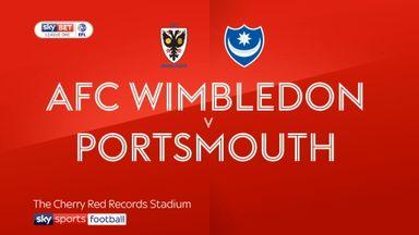 AFC Wimbledon 0-2 Portsmouth