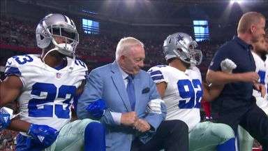 Cowboys owner joins NFL players' protest