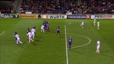 Silva's spectacular free kick