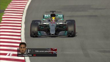 Hamilton on pole in Malaysia