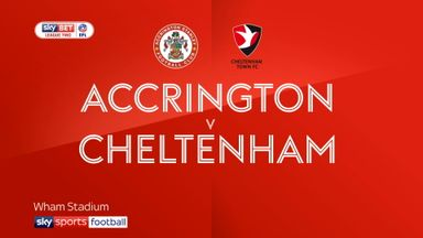 Accrington 1-1 Cheltenham