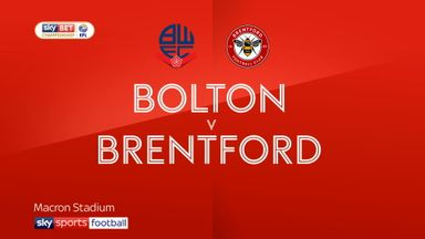 Bolton 0-3 Brentford