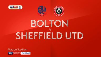 Bolton 0-1 Sheffield Utd