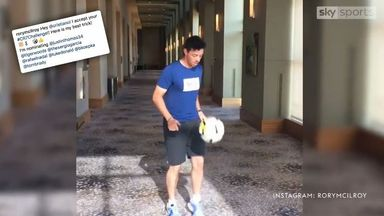 McIlroy takes on CR7 challenge