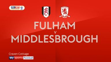 Fulham 1-1 Middlesbrough