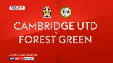 Cambridge 3-0 Forest Green