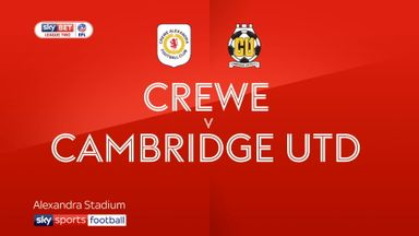 Crewe 0-1 Cambridge